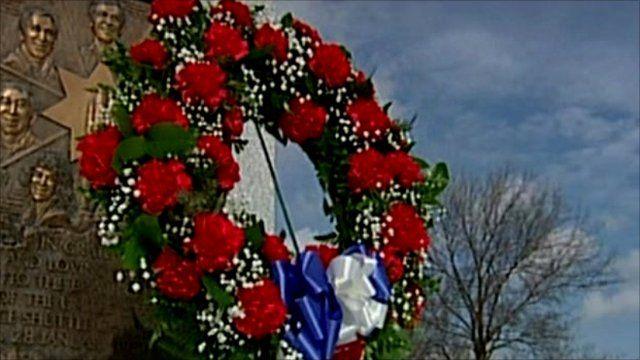 Wreath laid at Arlington National Cemetery
