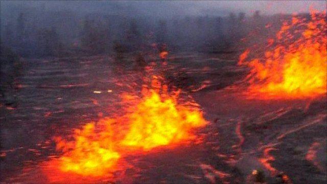 The Kilauea Volcano eruption