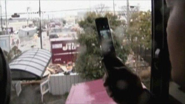 News crew flee tsunami