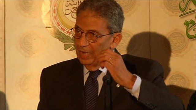 Amr Moussa, the head of the Arab League