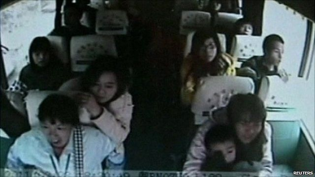 Passengers in the bus