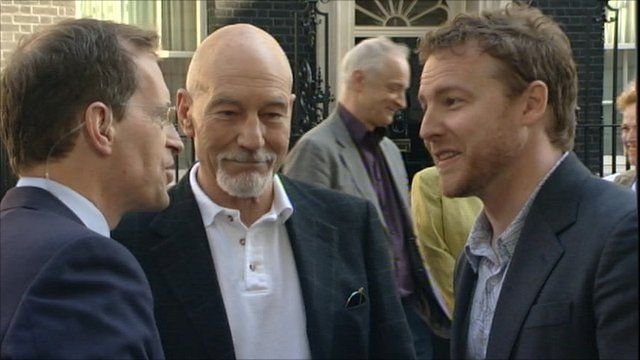 Sir Patrick Stewart and Samuel West