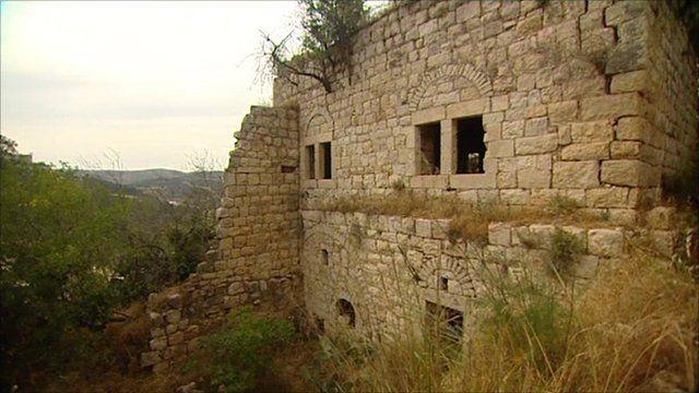 Derelict homes in Lifta
