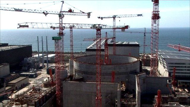 French nuclear plant under construction