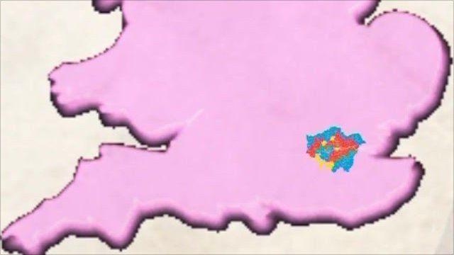 Map highlighting London