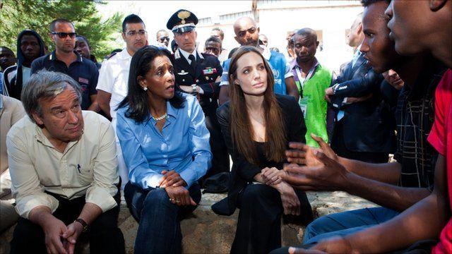 Zeinab Badawi with Angelina Jolie