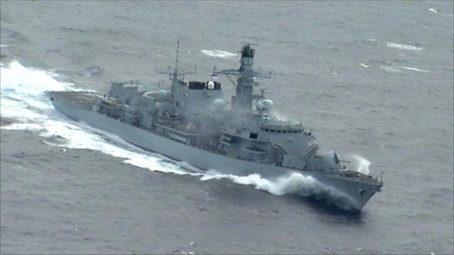Navy frigate