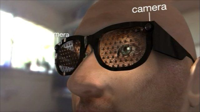 Glasses to help the blind navigate objects and people