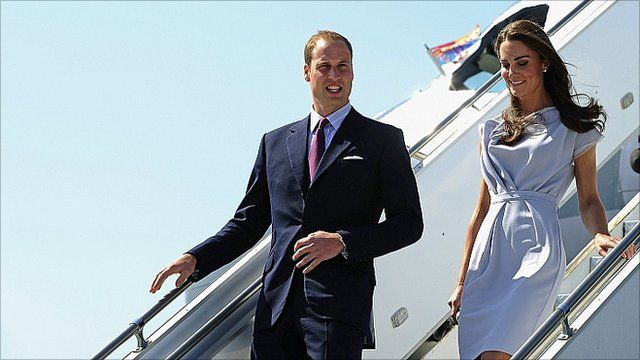 William & Catherine arrive in Los Angeles