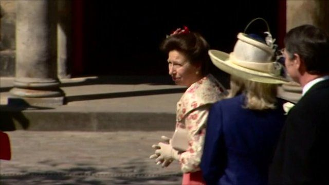 The bride's mother, the Princess Royal