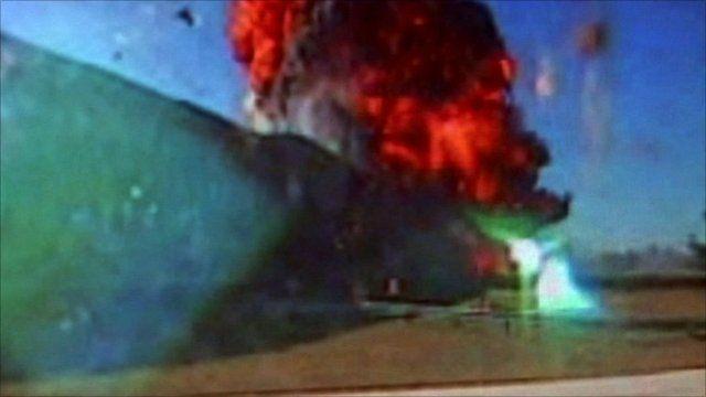 Still of attack on Pentagon