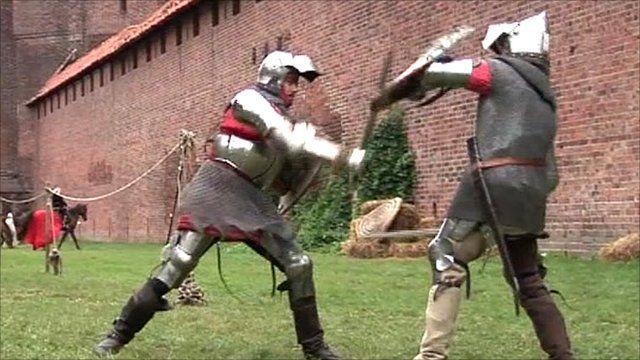 Knights battle