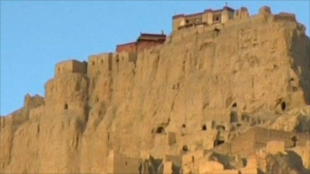 Guge Kingdom ruins in Tibet