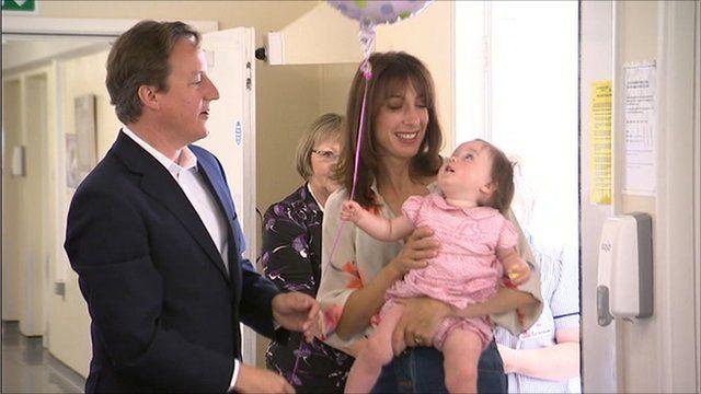 The Camerons at the Royal Cornwall Hospital