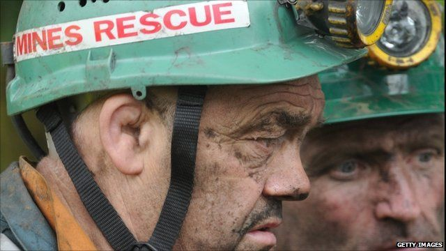Rescue workers at Gleision Colliery