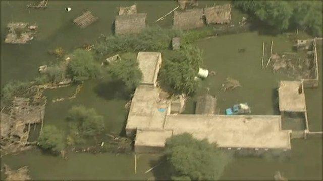 Flood affected area in Pakistan