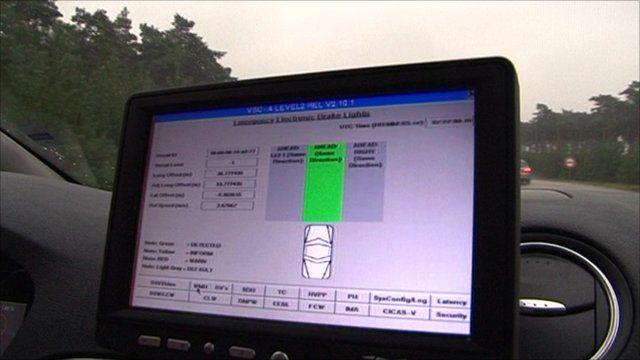 Monitor in car