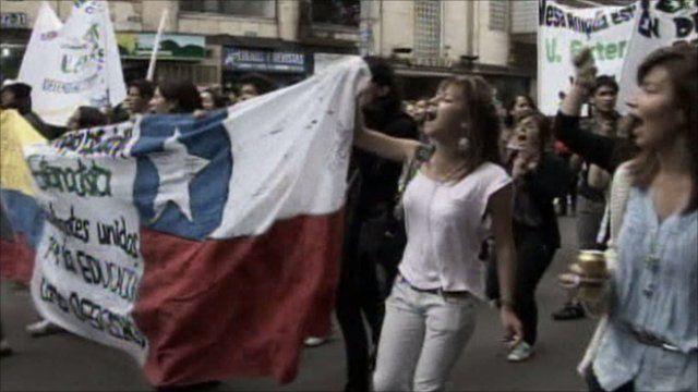 Demonstration in Bogota