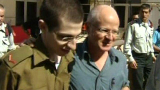 Gilad Shalit and his father