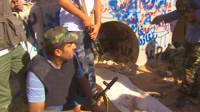The concrete pipe where Gaddafi was found