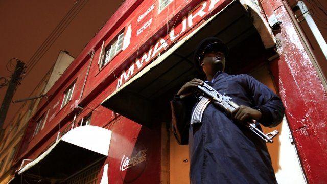 Man outside Mwauras club