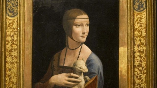 "Portrait of Cecilia Gallerani"" (The Lady with an Ermine)"