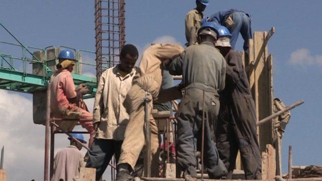 Construction works in Ethiopia
