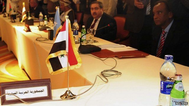 Syria's empty seat at Arab League meeting