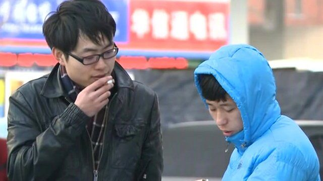 Two students in Beijing