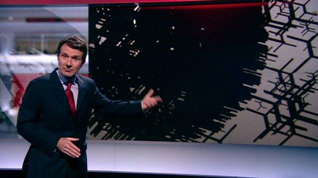 The BBC's David Shukman explaining Higgs boson