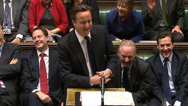 David Cameron MP at PMQs