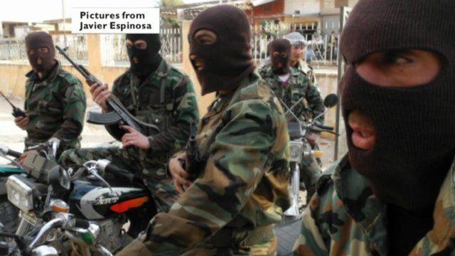 Photo of Free Syrian Army courtesy Javier Espinosa