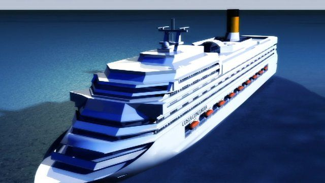 Graphic image of cruise ship