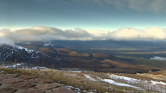 View of Cairngorms National Park
