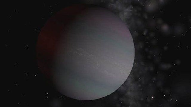 Artist's impression of a distant world