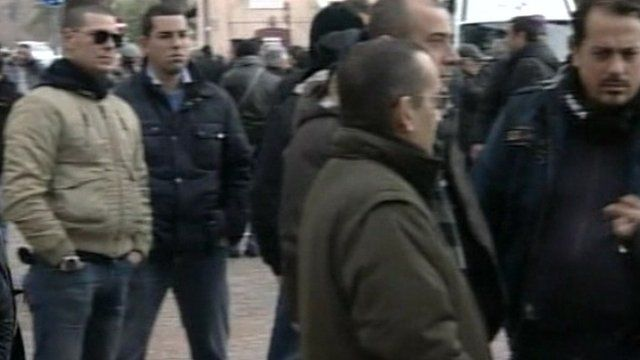 Taxi drivers on strike in Rome