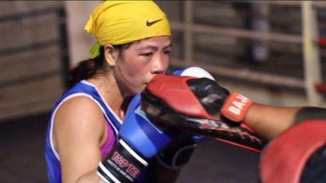 Mary Kom Olympic boxing hopeful.