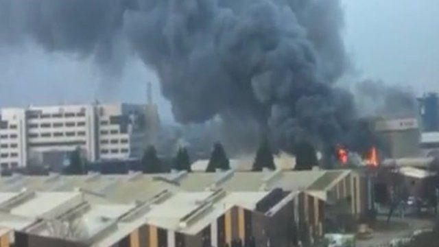 Fire in West London