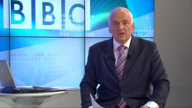 Nik Gowing at the BBC debate in Davos