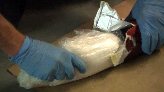 Drugs were hidden in juice cartons