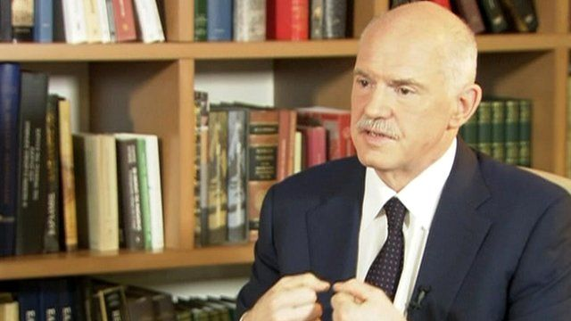 Former Greek Prime Minister George Papandreou