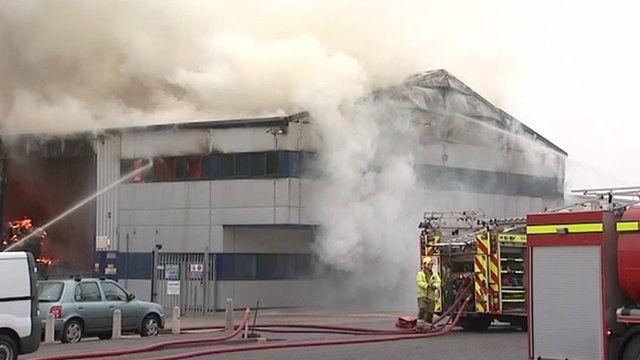 Rackheath recycling centre fire