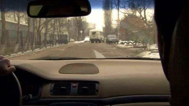 Newsnight's Tim Whewell on the tail of an 'election bus' in Russia