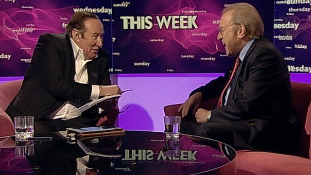 Andrew Neil and David Frost