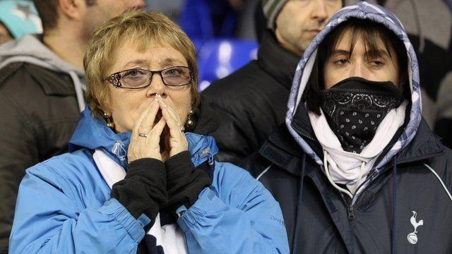 Fans looking worried