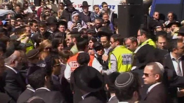 The funerals taking place in Jerusalem