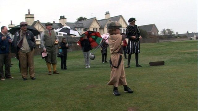 Boy playing golf in Montrose