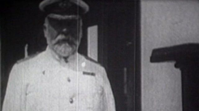 Captain Edward John Smith on board the Olympic. Photo: Staffordshire Film Archive