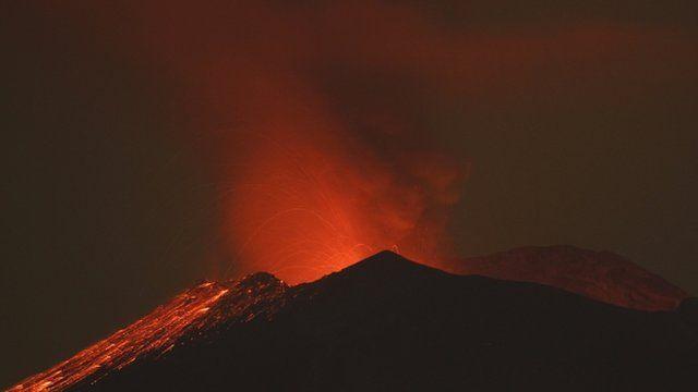 Popocatepetl volcano near Mexico City