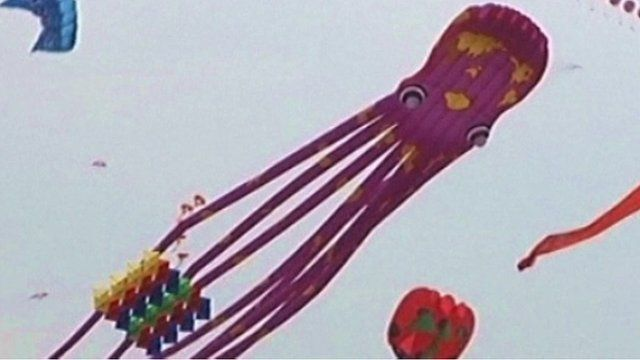Kite in Weifang City